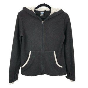 KUHL Full Zip Green Alpaca Fleece Hoodie Outdoor S
